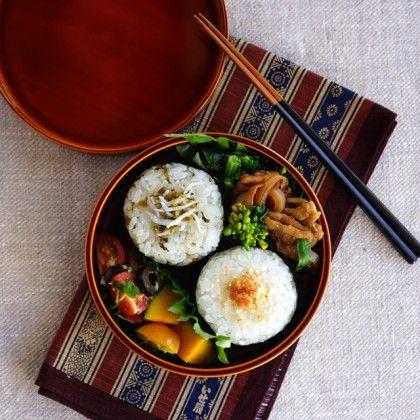 Japanese riceball bento・おにぎり弁当