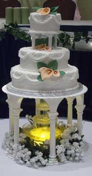 7 Wedding Cake 3 Tier 2 Sets Of Columns Fountain Flowers The