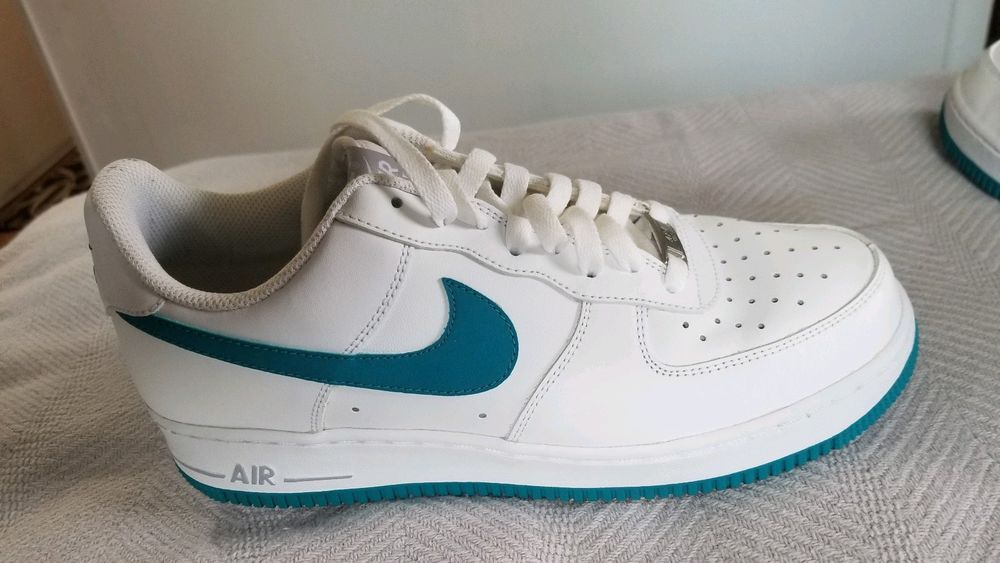 size 40 dbc5e ebfaf AIR FORCE 1 LOW WHITE TROPICAL TEAL WOLF GREY MEN S SZ 8.5 S 488298-132   fashion  clothing  shoes  accessories  mensshoes  athleticshoes (ebay link)