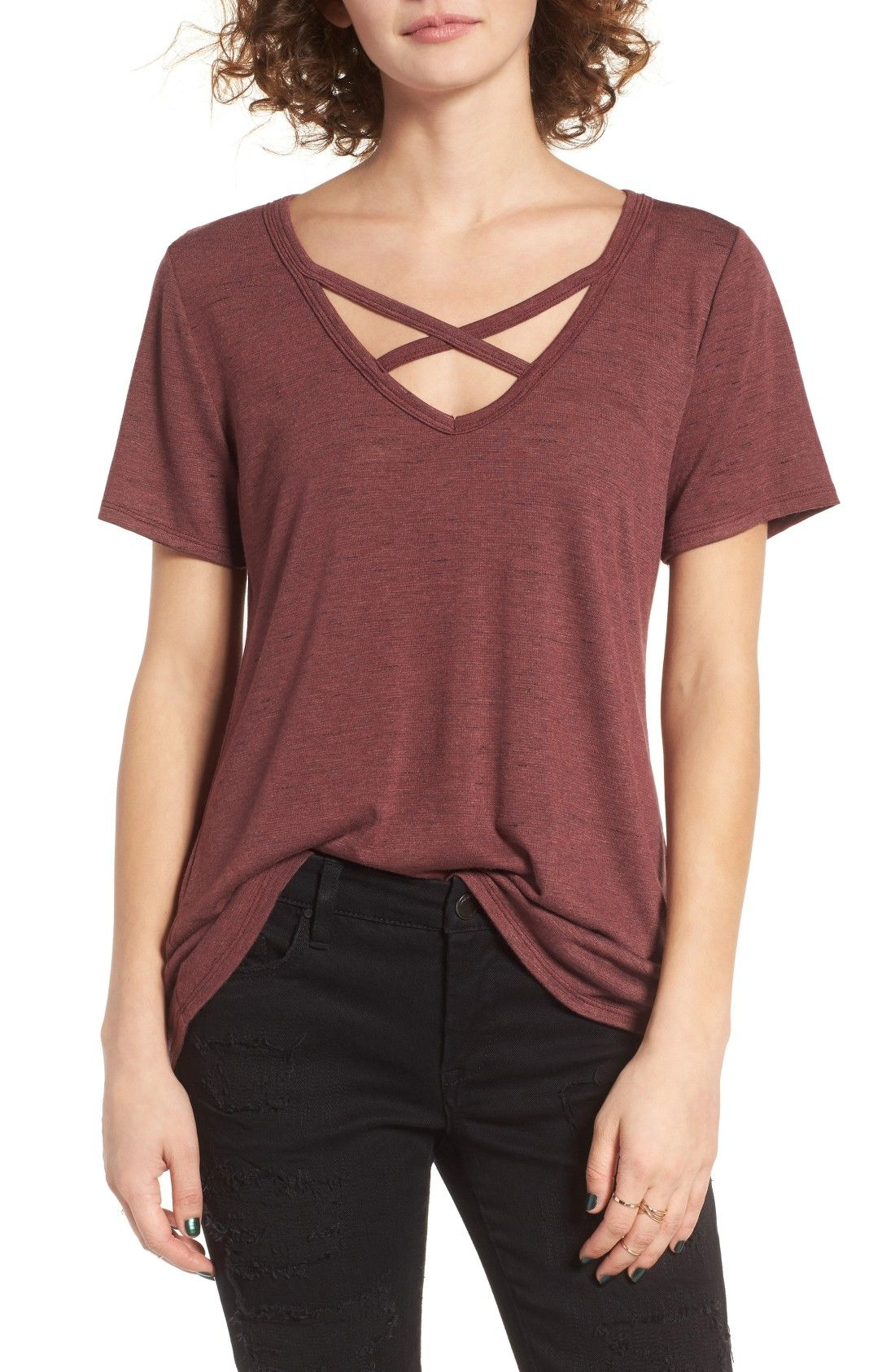 Strap Front Tee Made In Usa Nordstrom Fashion Normal Clothes Clothes