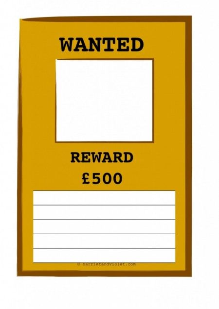 Wanted Posters 2 Different Styles H Early Years (EYFS), KS1, KS2 - create a wanted poster free