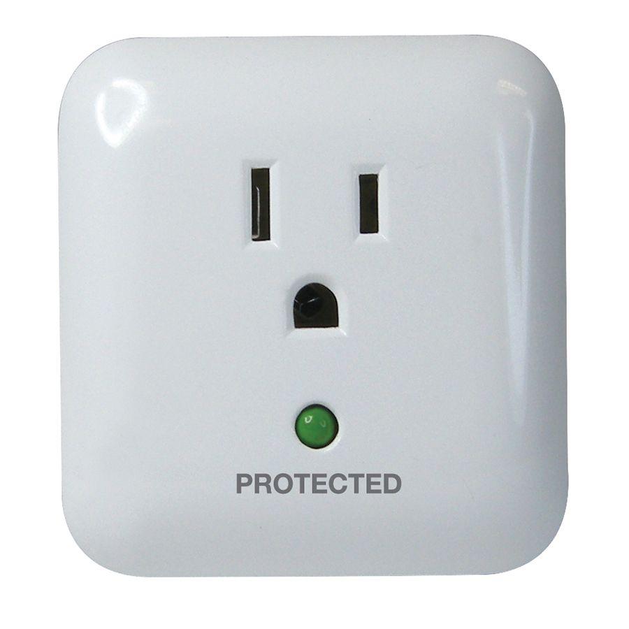 Utilitech 1 Outlet 900 Joules General Use Audible Alarm Surge Protector Kitchen Liances