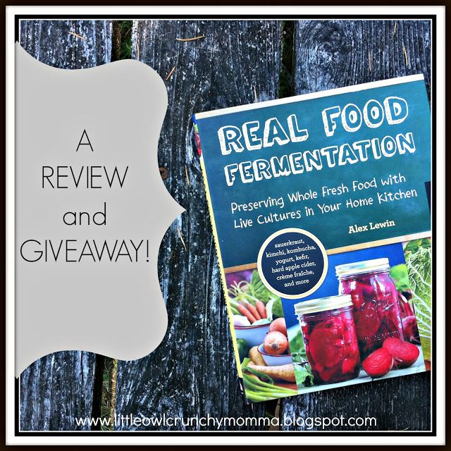 LittleOwlCrunchyMomma: Real Food Fermentation (Review and Giveaway)