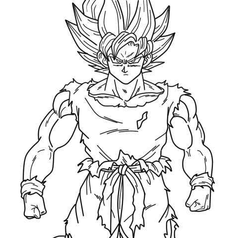 Super Saiyan Goku Coloring Pages | super saiyan goku coloring ...