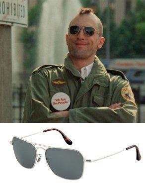 119388e84e6050 Ray-Ban Caravan sunglasses c 1970. Worn by Travis Bickle aka Robert De Niro  in the 1976 movie Taxi Driver.
