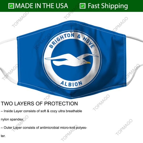 Brighton Logo Face Mask