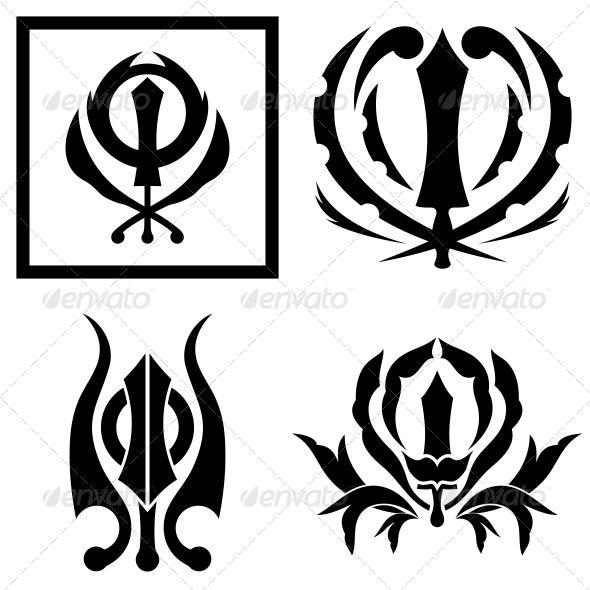 Khanda Sikhs Pattern Art Sticker
