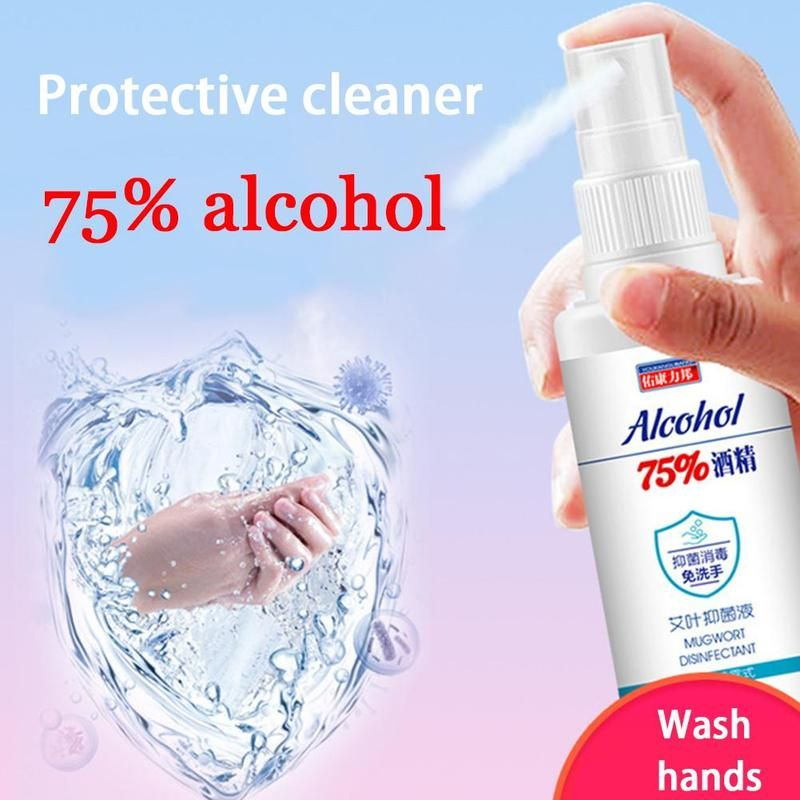 60ml Disinfection Rinse Free Hand Sanitizer 75 Alcohol Spray Portable Ladiesbelle In 2020 Hand Sanitizer Antibacterial Spray Alcohol