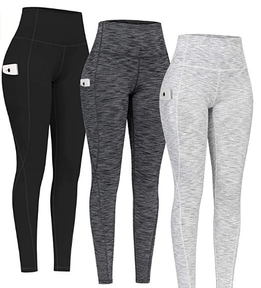 High Waist Yoga Pants with Pockets, Tummy Control Leggings, Workout 4 Way Stretch Yoga Leggings... Go To Amazon Now