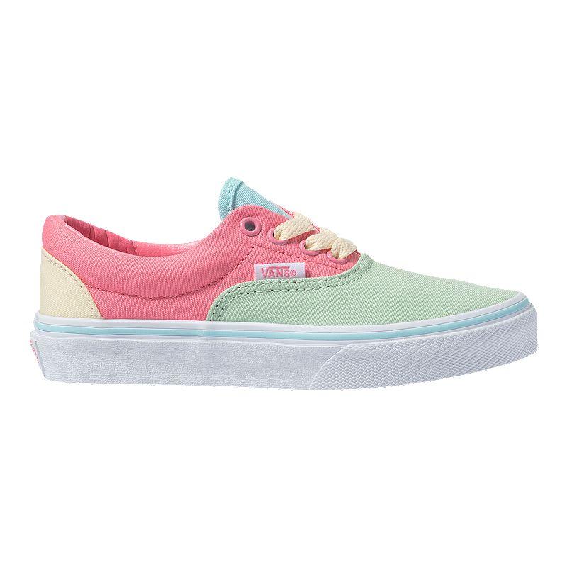 Vans Girls' Colour Block Era Shoes PinkGreenWhite | Vans