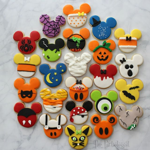 Disney Themed Halloween Cookies With Images Halloween Sugar