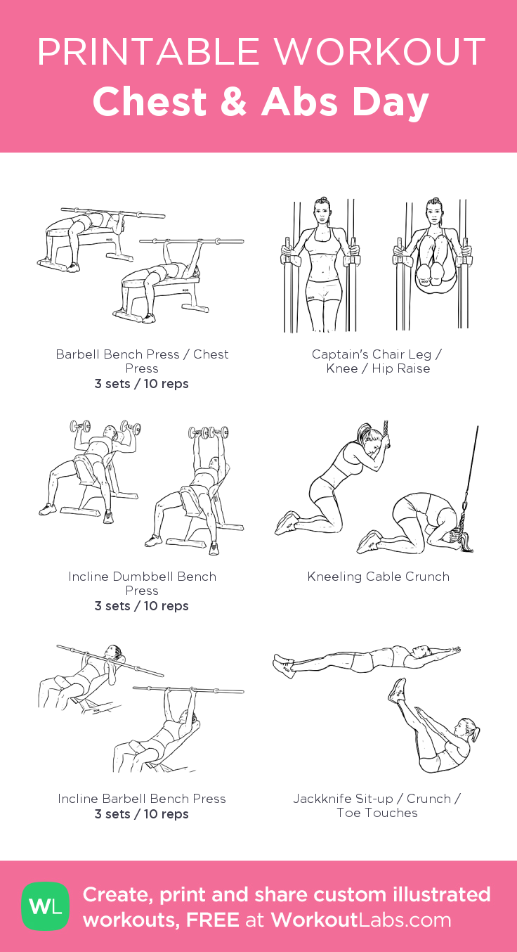 Chest & Abs Day my visual workout created at WorkoutLabs