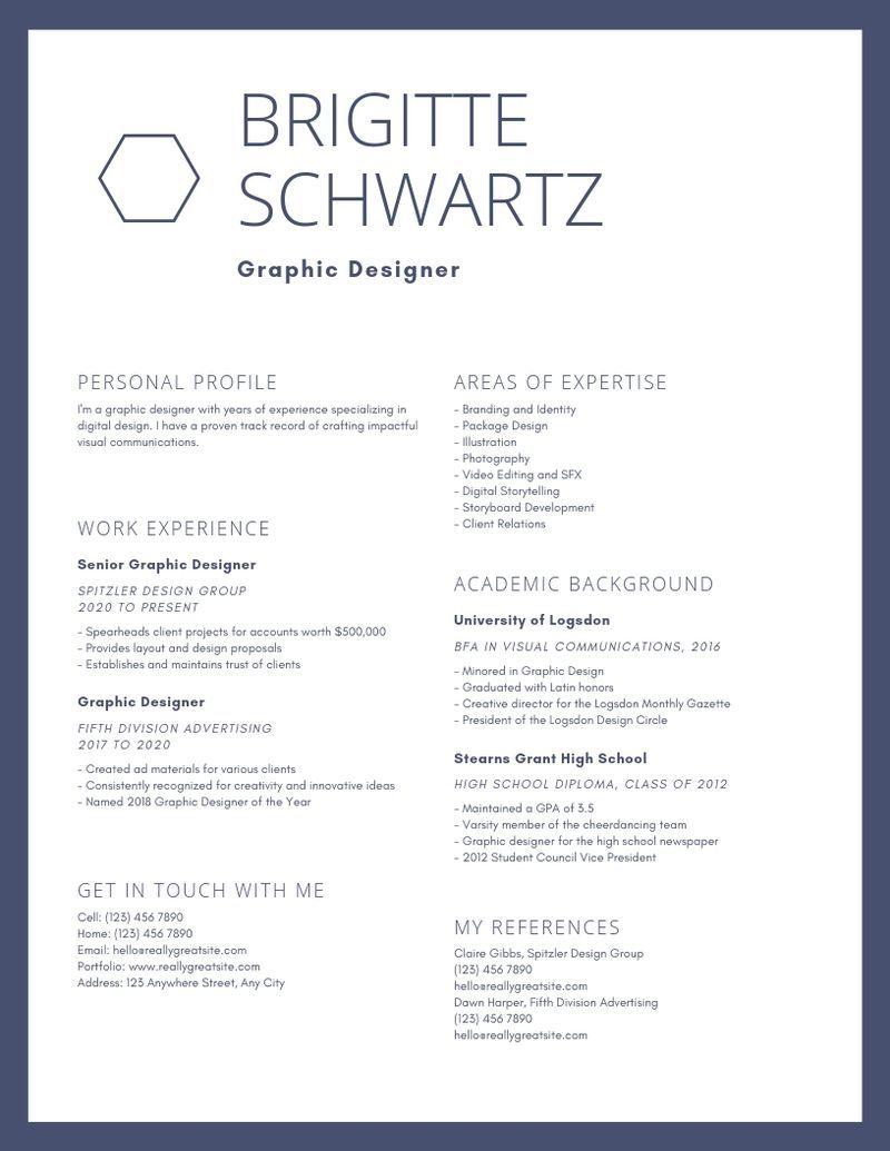 gianinasantiagoresumedesign in 2020 Resume design
