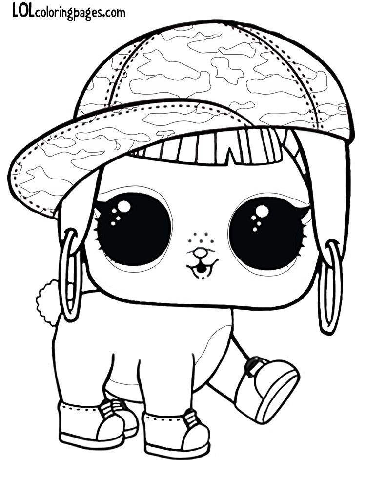 bunny hun LOL Surprise doll pet coloring page | Cute ...