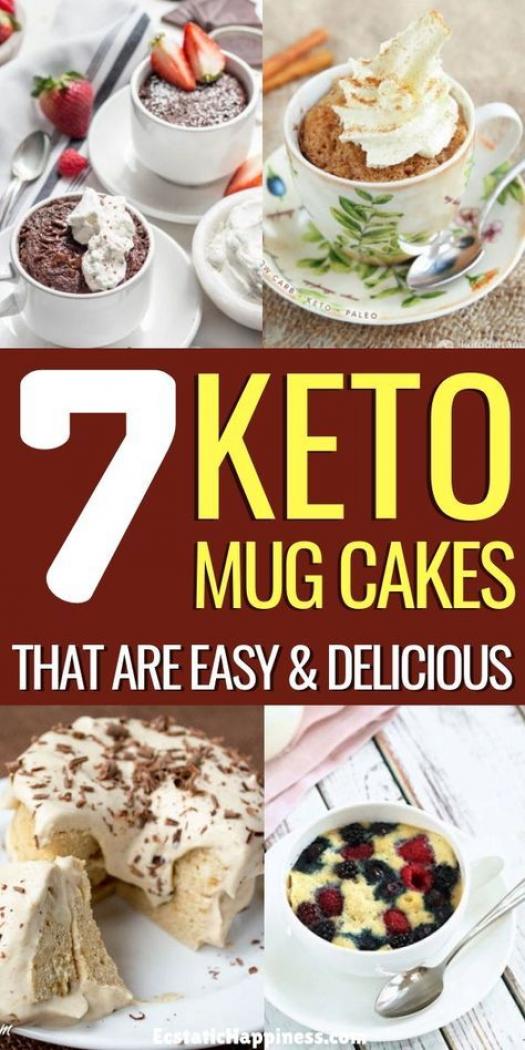 Keto Mug Cakes! These easy keto mug cakes with coconut ...