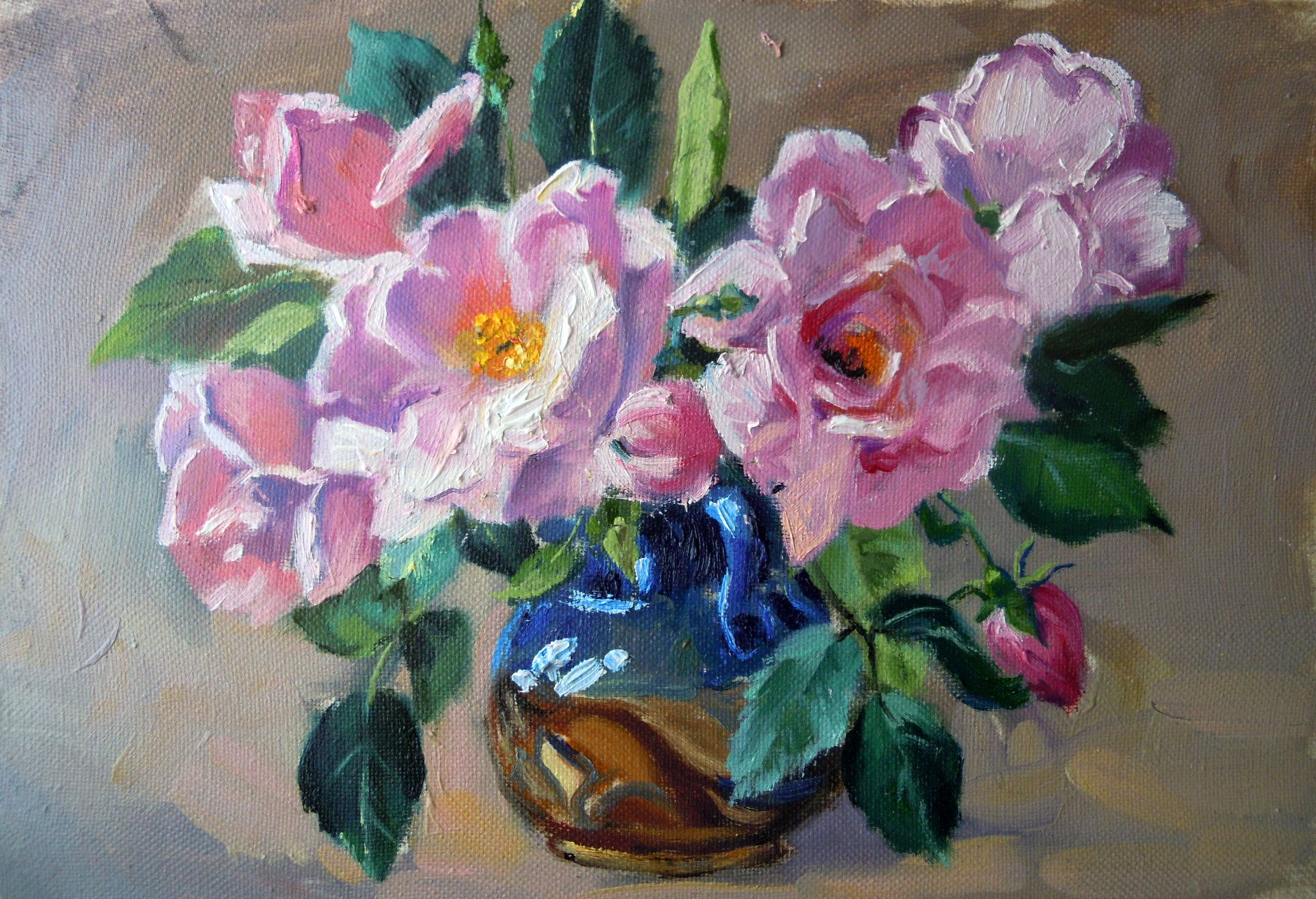 Tea roses still life for sale Order at http://buyartus.com  Oil painting review Part 26 BuyArtUs  https://youtu.be/6VwxNMFUVXI  Canvas stretched on a frame. Size: 8 x 12 in. (20х30 cm.). Materials: Oil, canvas  #oilpainting #oilpaintingsforsale #originalartforsale #paintingsforsale #oilpaintingforsale #handmadepainting #originaloilpainting #stretchedcanvas #oiloncanvas #originalart #painting #canvas #original #artforsale