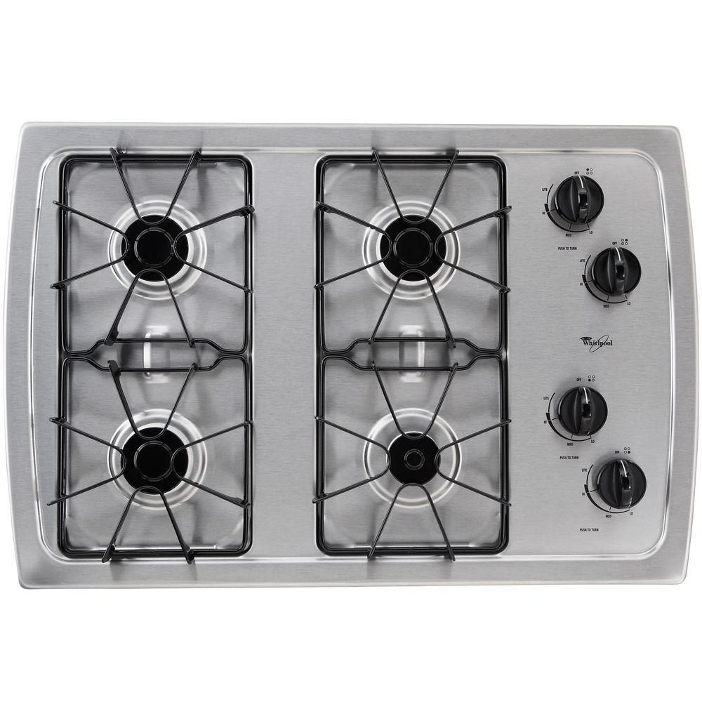 Whirlpool 30 In Gas Cooktop In Stainless Steel With 4 Burners W3cg3014xs With Images Stainless Steel Cooktop Gas Stove Top Gas Cooktop