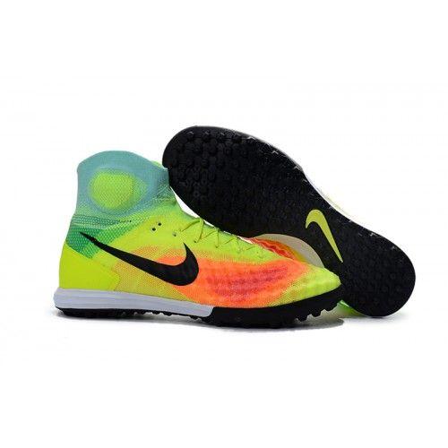 3061a84f3c242 Nike Magista - Chuteira Society Nike Magista Obra II Society TF Amarelo  Laranja Preta