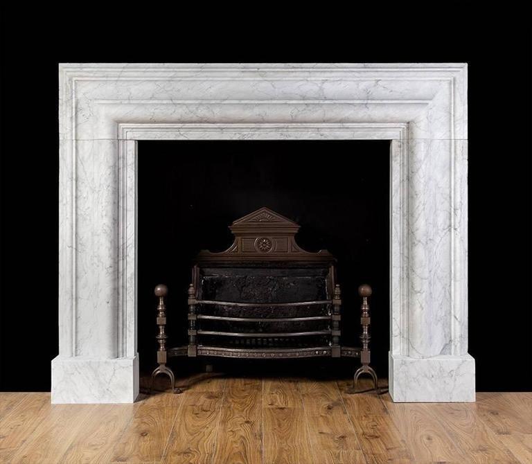 Carrara Marble Bolection Mantel 2 Marble Fireplace Mantel Vintage Fireplace Fireplace