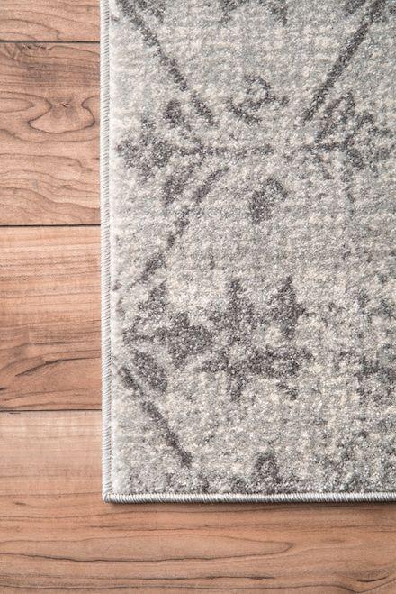 Bosphorus Rhomb Lattice Gray Rug   Farmhouse area rugs ...