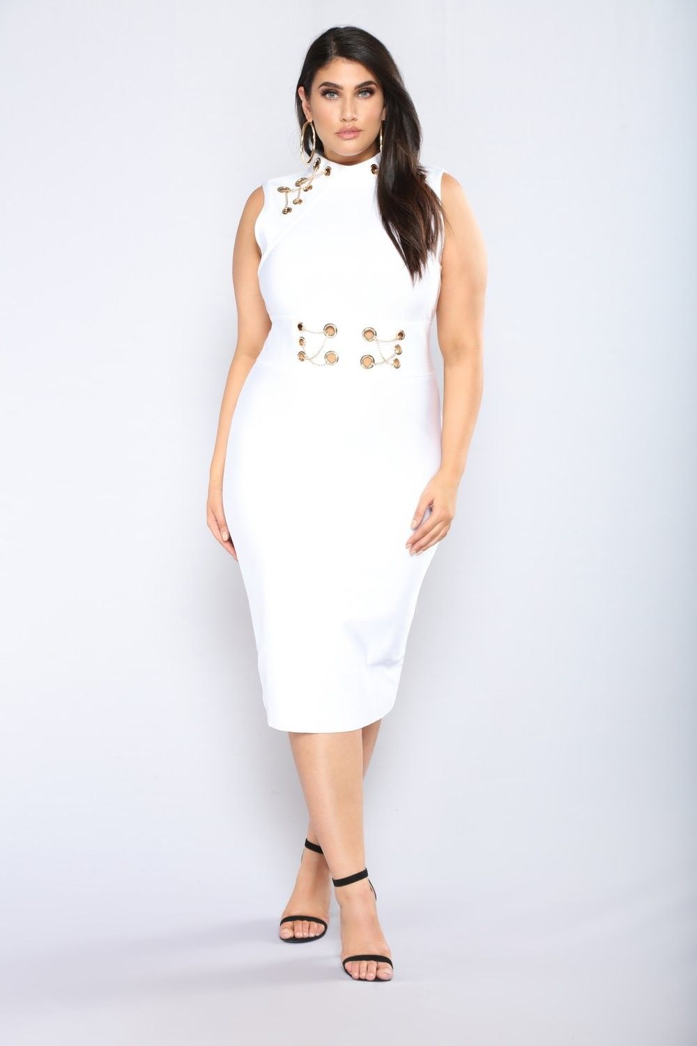 Plus Size Change This Love Bandage Dress - White $54.99 ...