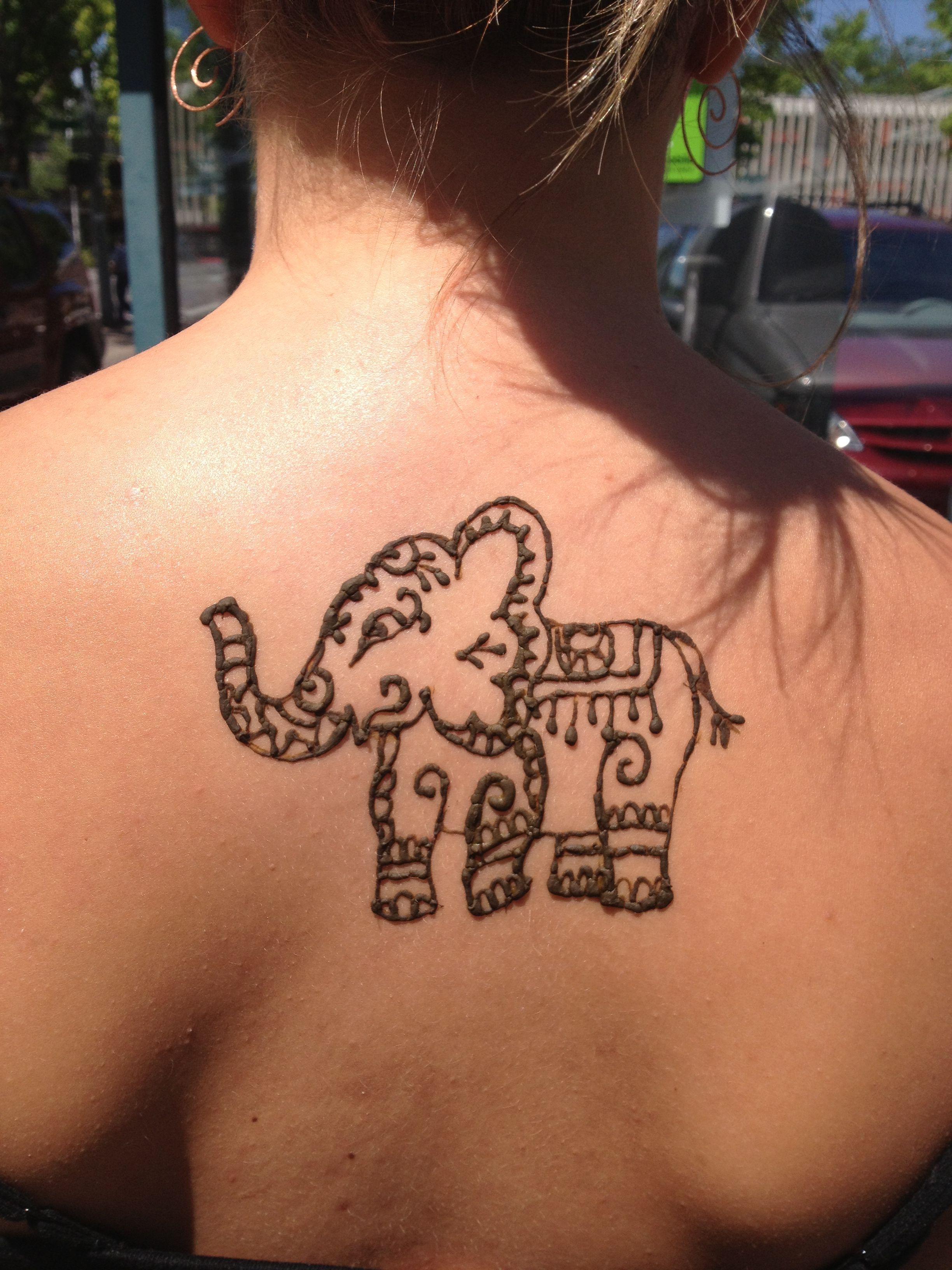 Mehndi Elephant Tattoo : Elephant henna tattoo tattoos pinterest