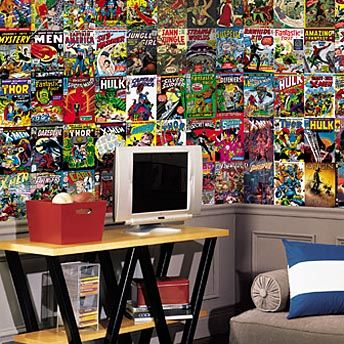404 Not Found Roommates Peel And Stick Decor Marvel Comics Wallpaper Comic Book Wallpaper Comic Book Rooms