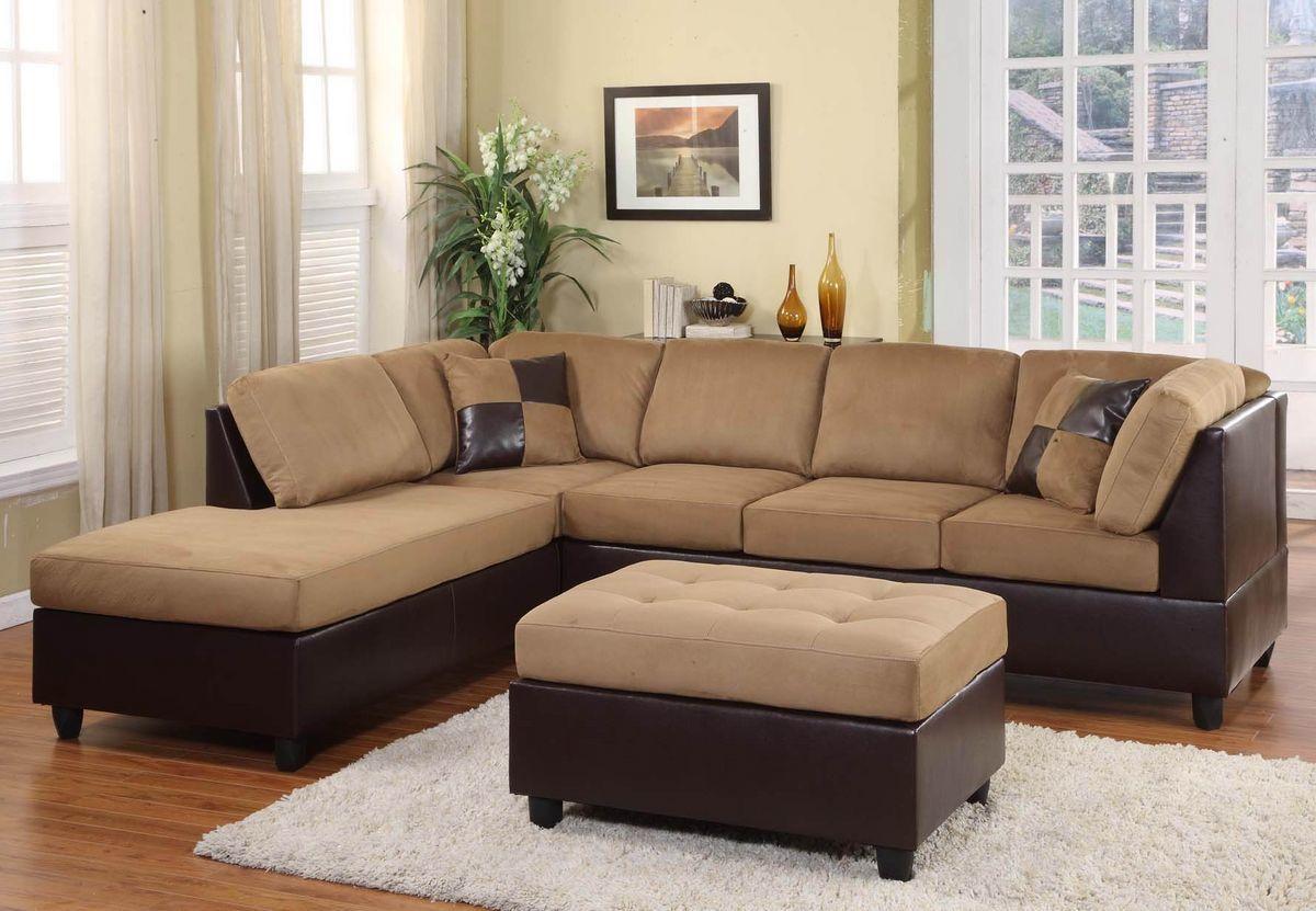 Homelegance Comfort Living Brown Rhino Reversible Sectional Sofa Set In 2020 Sectional Sofa Modern Sofa Sectional Brown Sectional Sofa
