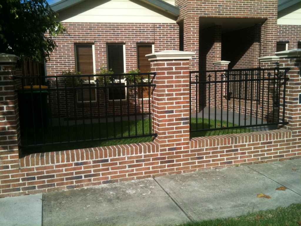iron fences - Brick Wall Fence Designs