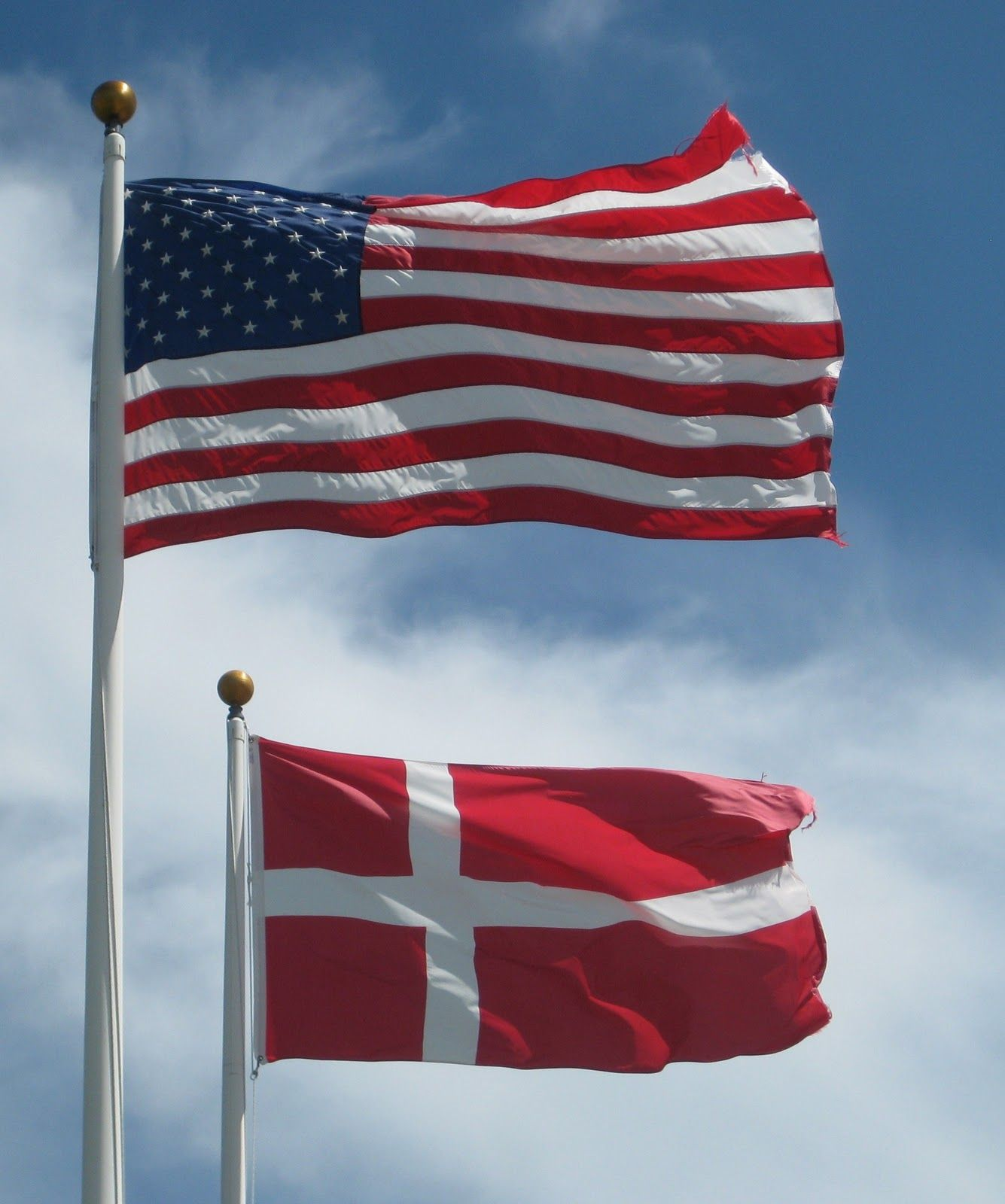 American And Danish Flag Its Also Called Flag In Danish But Its Pronounced A Little Different Denmark Flag America Independence Day