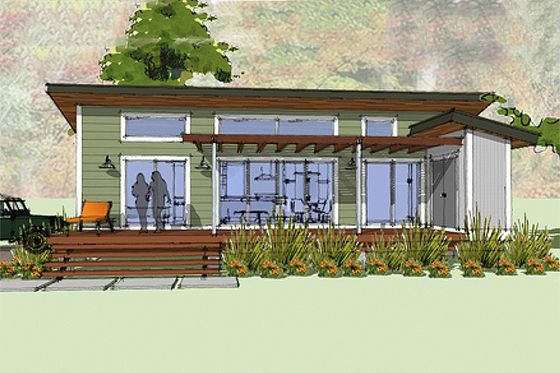 Modern Style House Plan 1 Beds 1 Baths 640 Sq Ft Plan 449 14 Modern Style House Plans Cottage House Plans Modern House Plans