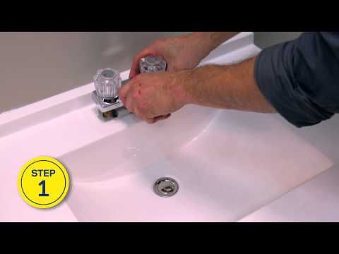 Rona How To Install Or Replace A Bathroom Faucet Youtube Bathroom Faucets Faucet Tub Shower Faucets