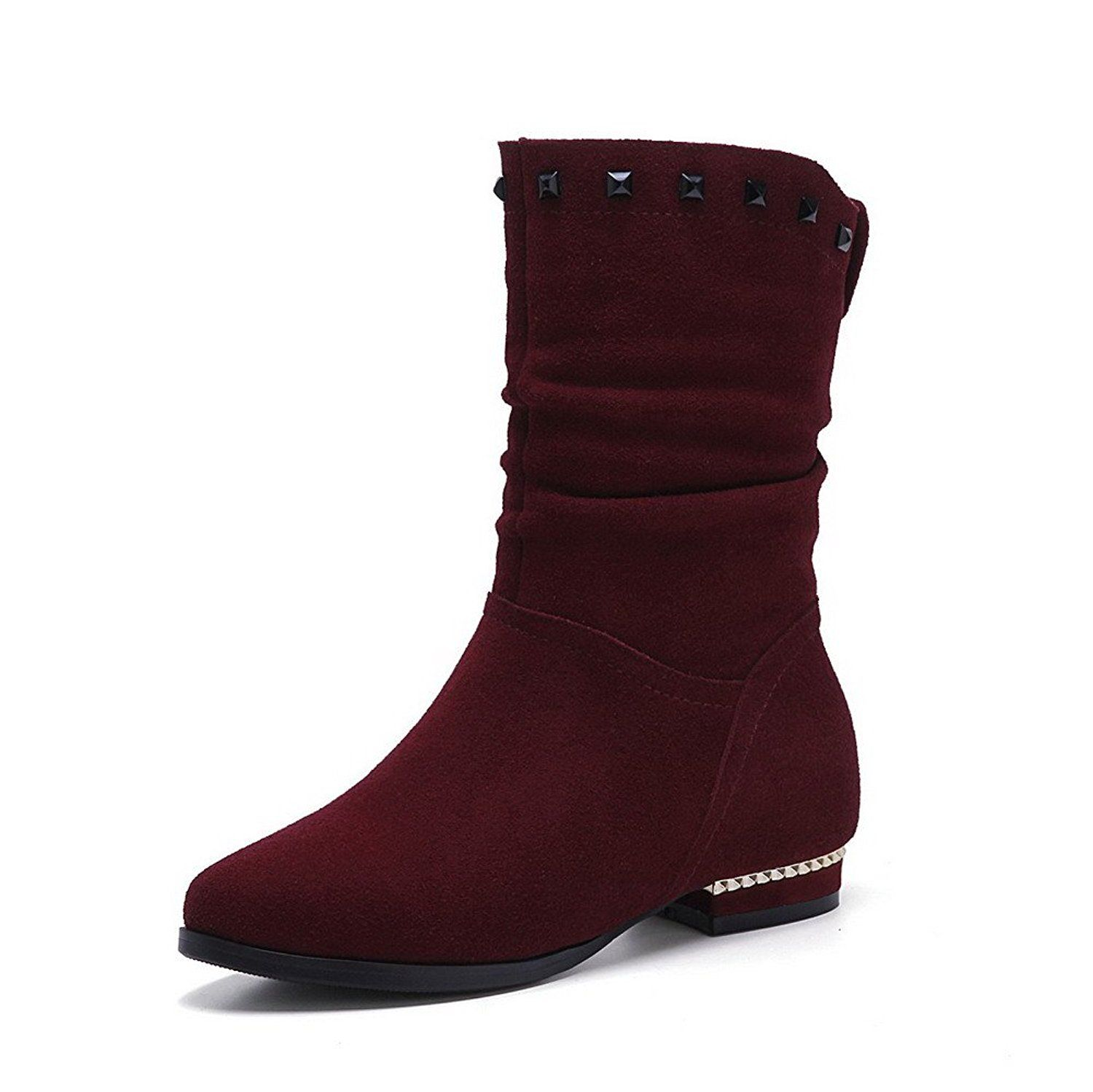 Maymeenth Women S Kitten Heels Frosted Solid Boots With Heighten Inside And Thread To View Further For Women S Over The Knee Boots Kitten Heel Boots Boots