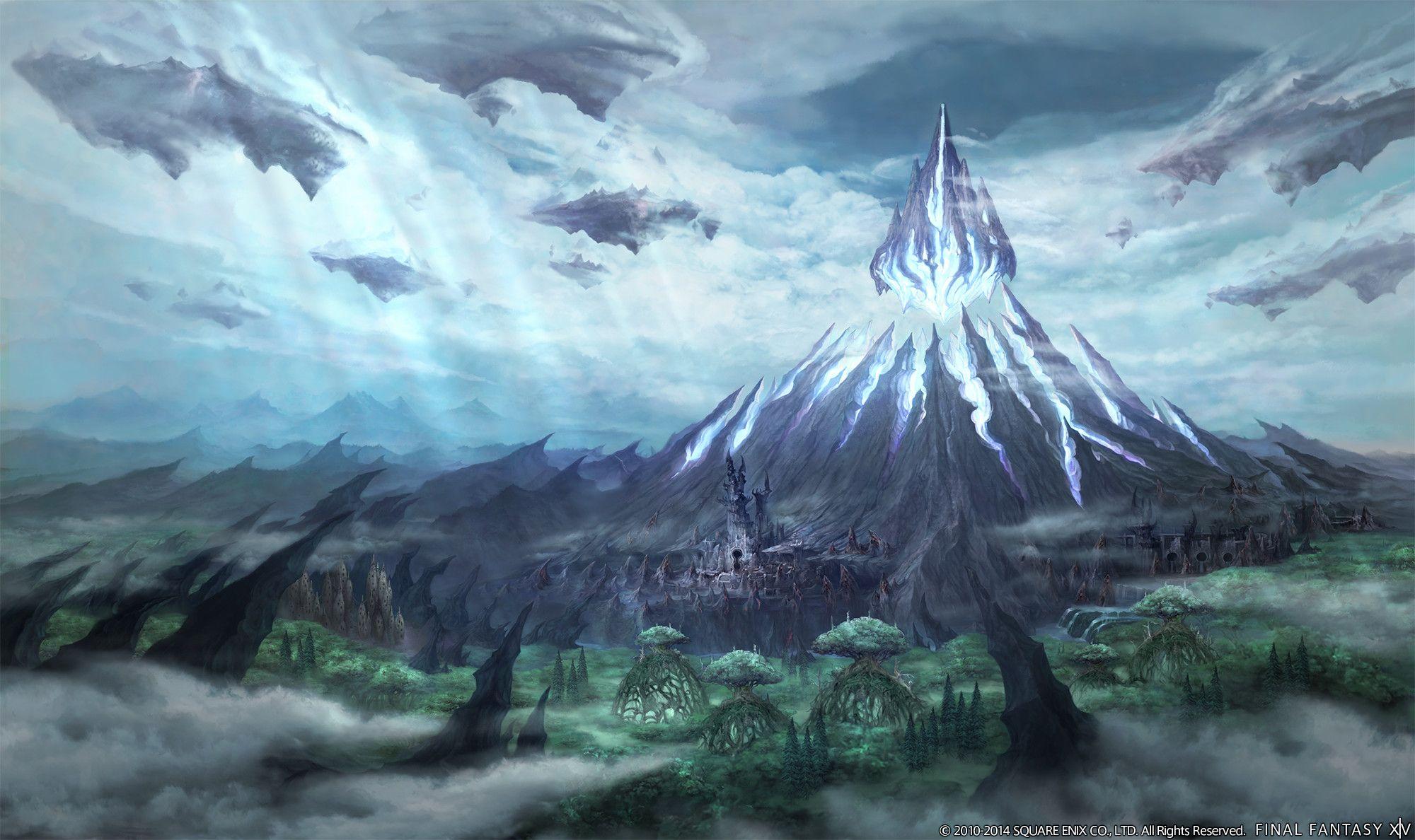 Final Fantasy Xiv Heavensward Environment Screens Artworks Fantasy Concept Art Fantasy Landscape Final Fantasy Xiv