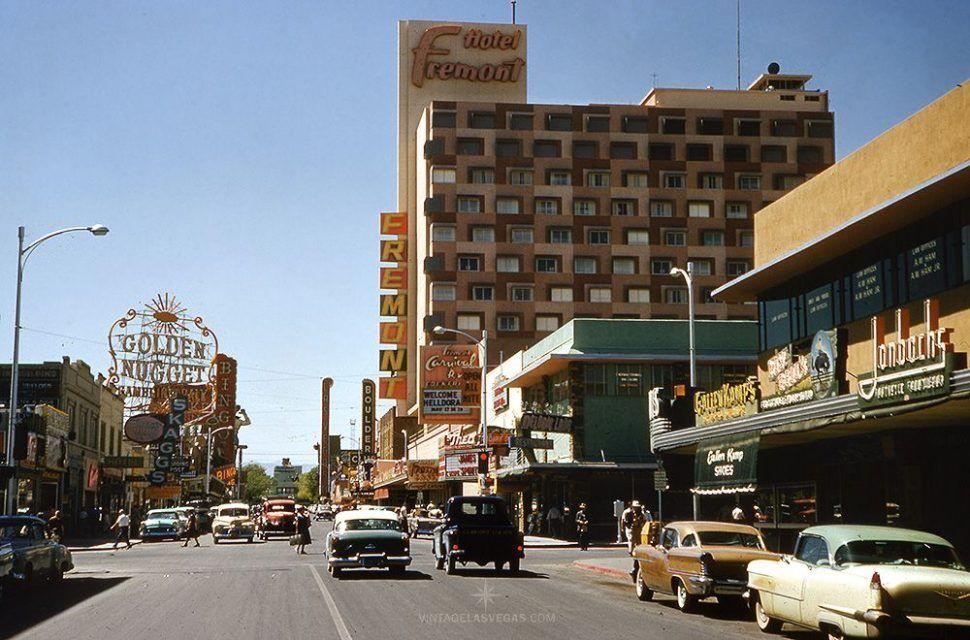 Las Vegas, 1957 Las vegas, Vegas, Fremont street