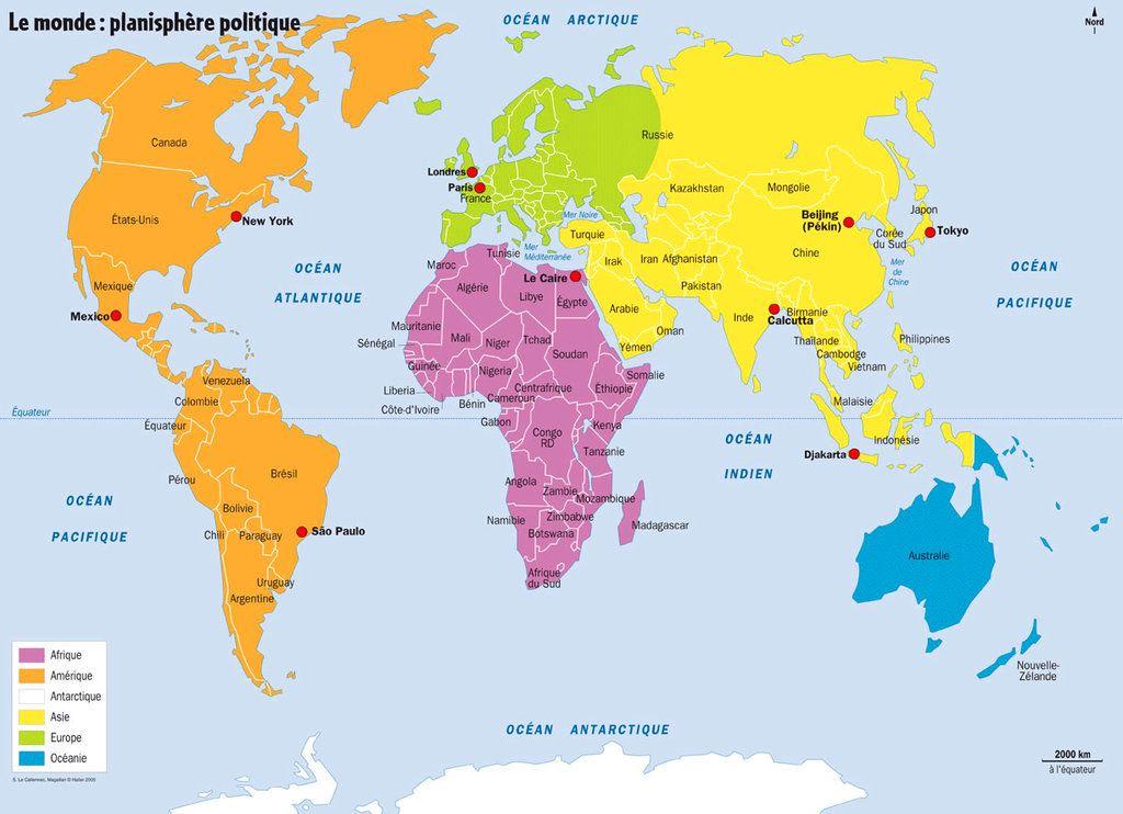 carte du monde en français à imprimer Carte du monde à imprimer (avec images) | Carte du monde a