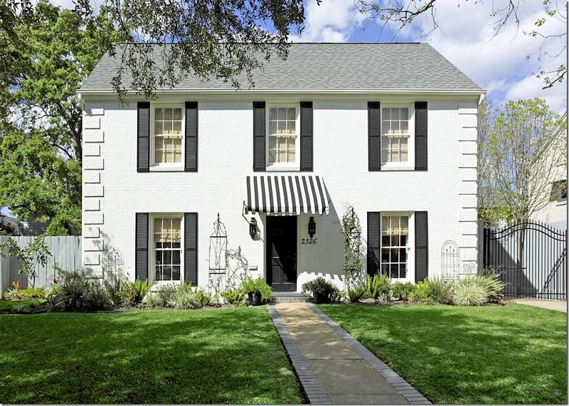 Cote De Texas Four Houses In My Hood White Brick Houses Front Door Ideas Brick House House Exterior