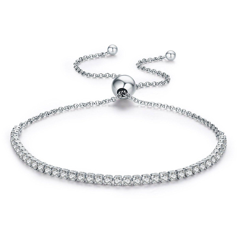 sterling silver sparkling strand bracelet women link tennis