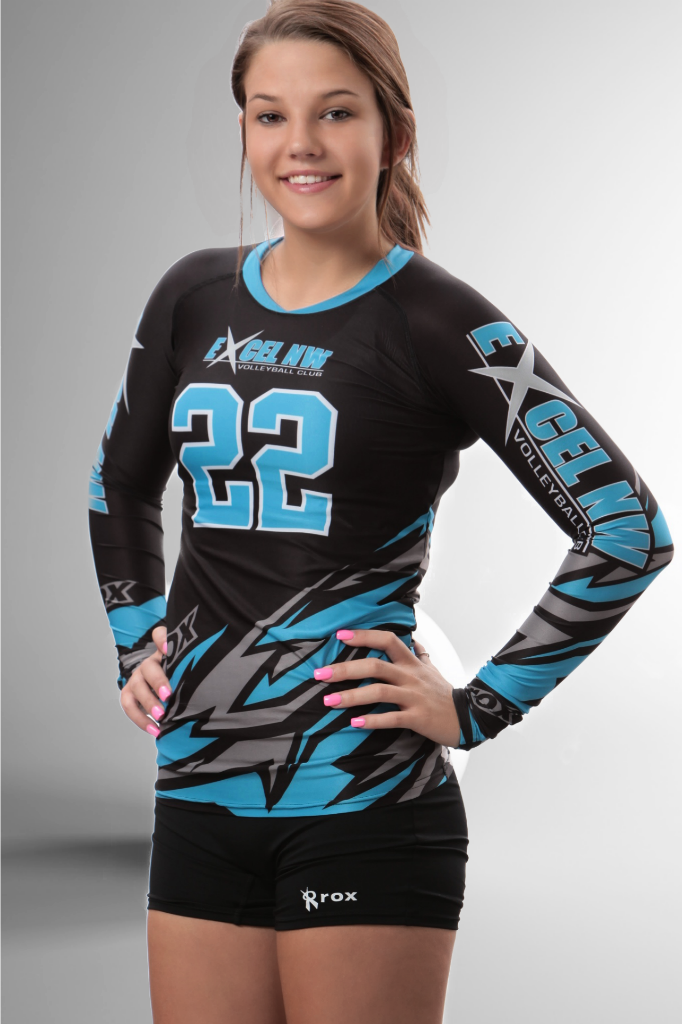 Bolt 3-Color Women s Sublimated Long sleeve Volleyball Jersey – Rox  Volleyball 7086eb45f1c4f