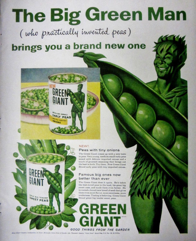 green giant sweet peas vintage advertisement kitchen wall art