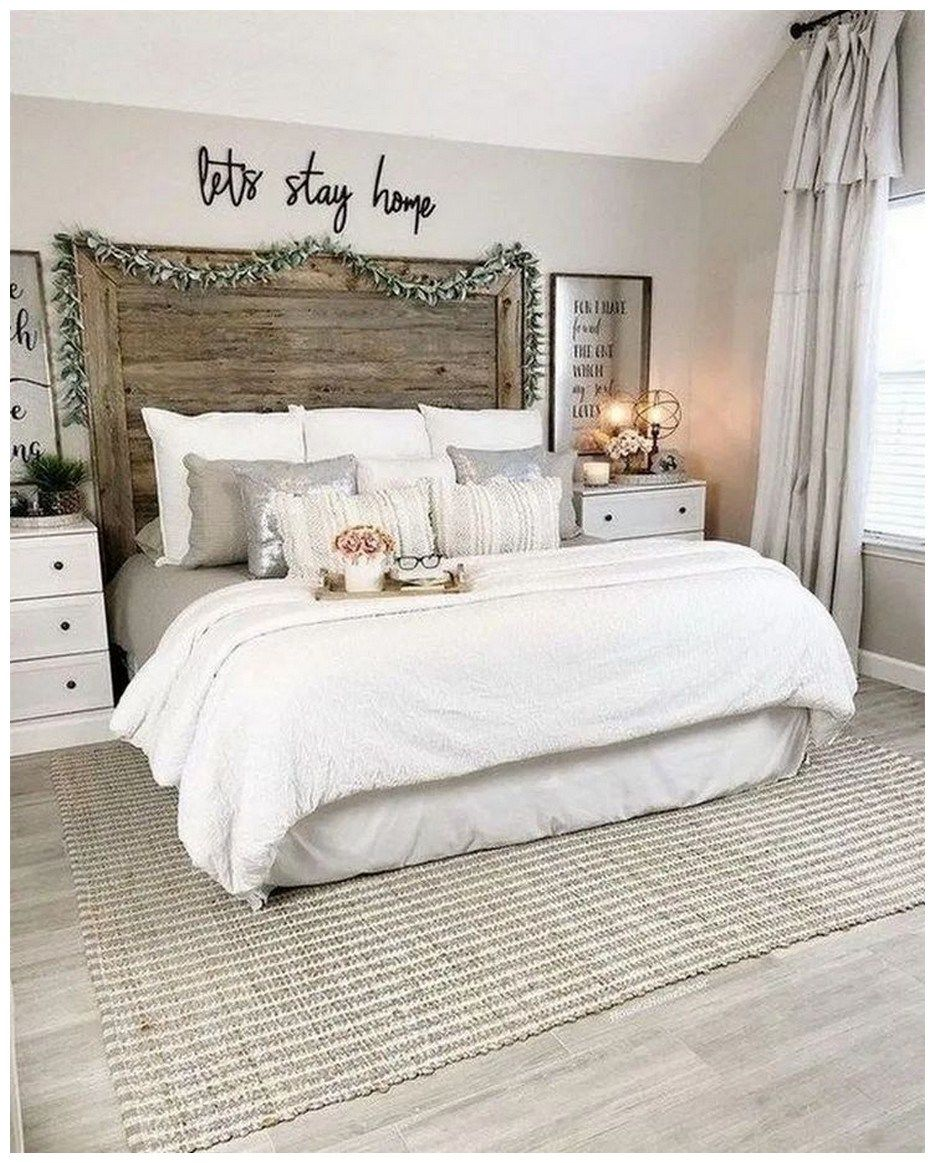 9+ inexpensive farmhouse style ideas for bedroom decorating 9