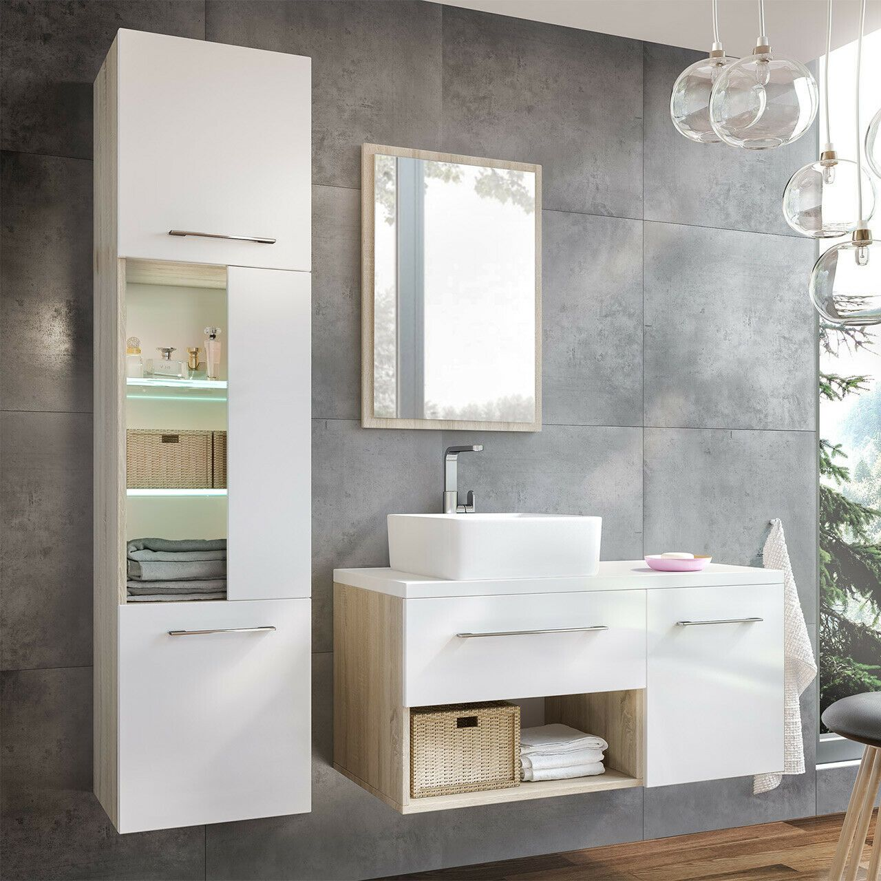 Badmobel Set Aruba Ii Modern Stil Kollektion Waschbecken Badezimmer Mobel Set In 2020 Badezimmer Mobel Waschbecken Badezimmer M