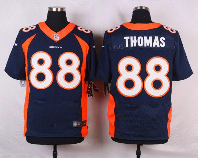 3679e99a1e1 NFL Customize Denver Broncos 88 Demaryius Thomas Blue Men Nike Elite Jerseys
