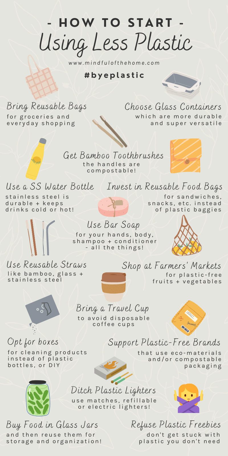 14 Easy Ways to Use Less Plastic at Home