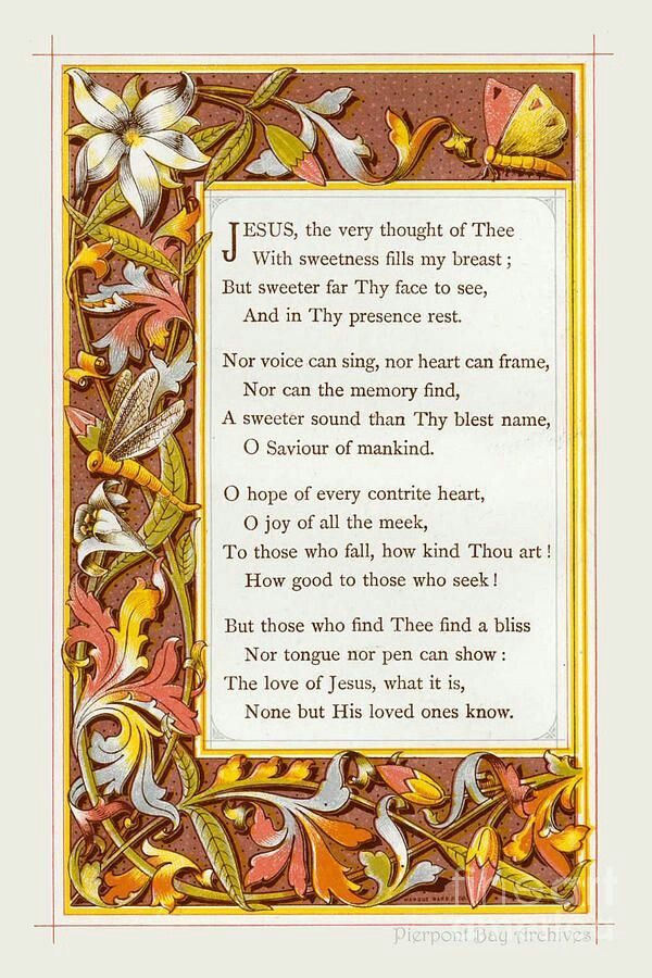 Jesus, The Very Thought of Thee. (With images) Poems