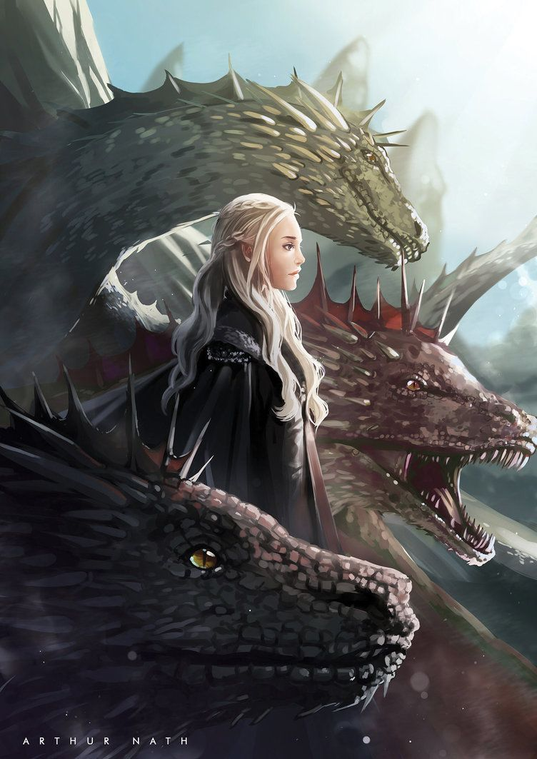 Daenerys By Arthurproject In 2020 Game Of Thrones Illustrations Game Of Thrones Art Targaryen Art