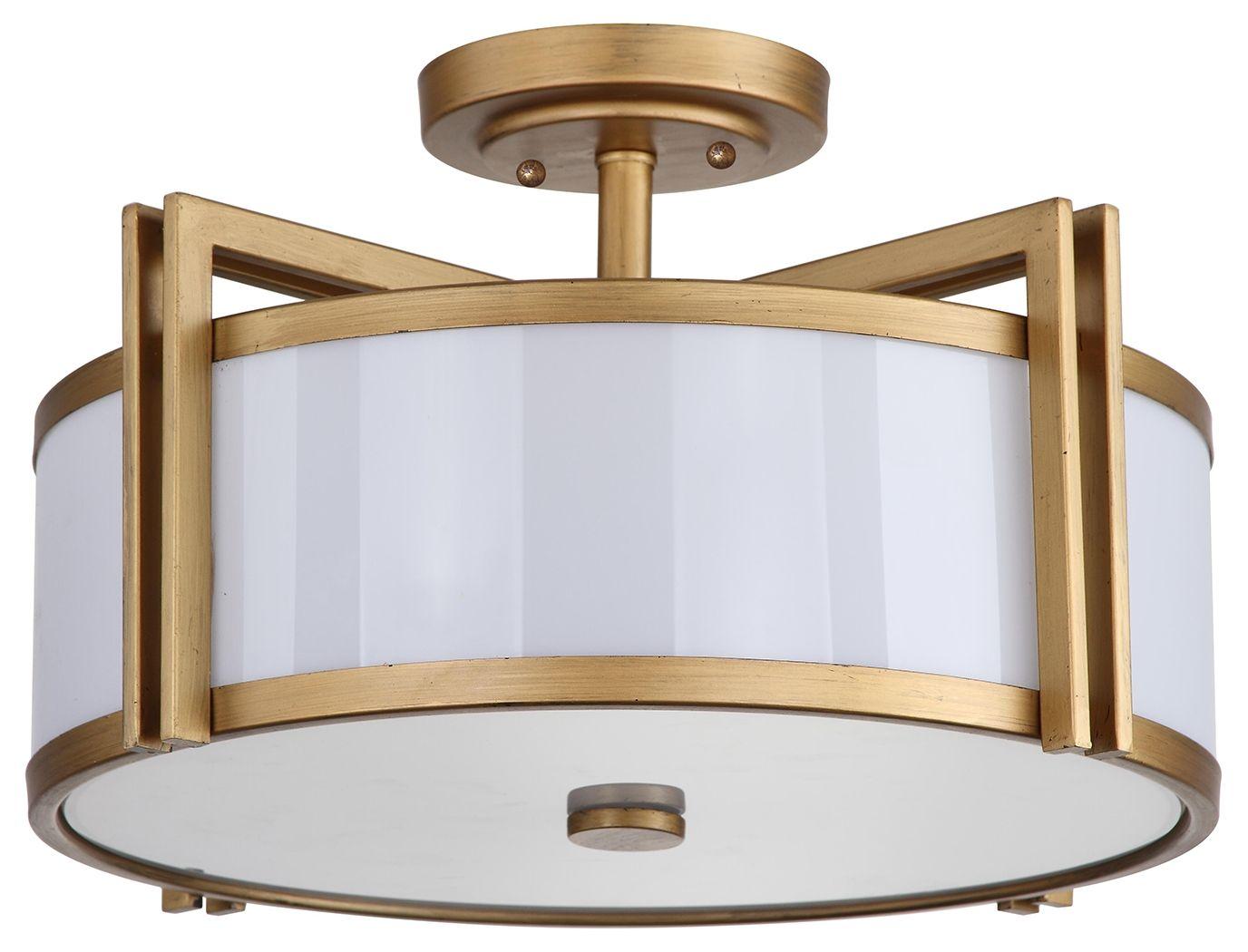 Acrylic Orb 17 15 Flush Mount Pendant Light Ashley Furniture Homestore Gold Ceiling Light Ceiling Lights Semi Flush Mount Lighting