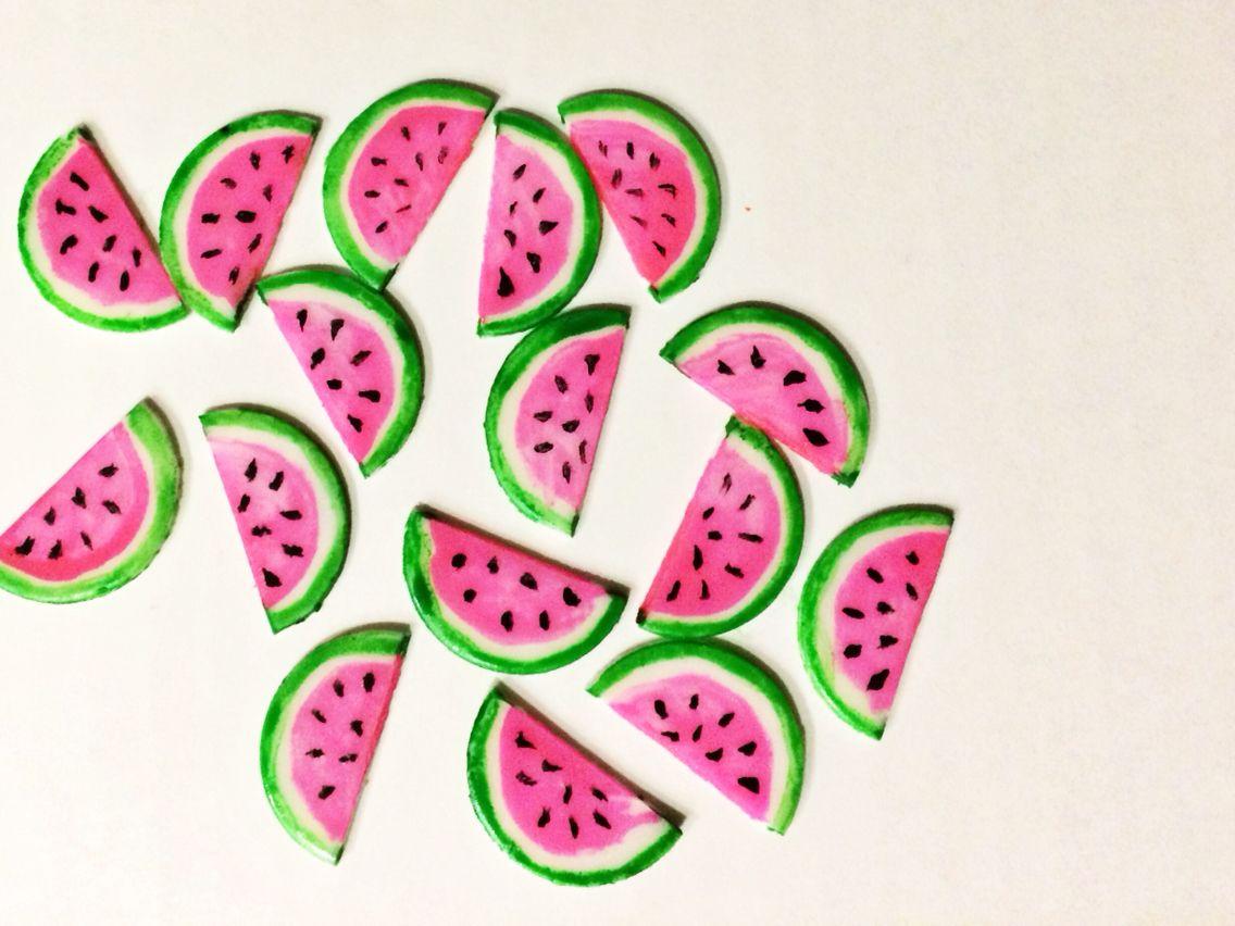 Fondant painted watermelon
