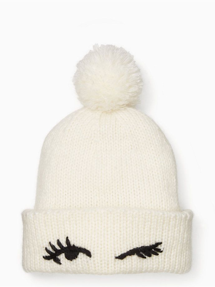 3aa9a3c1855 Eyes Up Here Winking Beanie - too cute! Wish I lived in a climate where  this was needed.