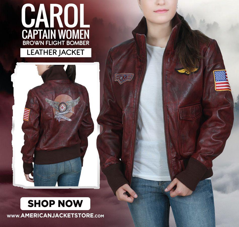 Brie Larson Captain Marvel Bomber Jacket American Jacket Store Flight Bomber Jacket Leather Bomber Jacket Jackets [ 900 x 950 Pixel ]